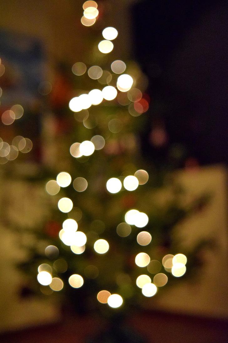 abstraktne, blur, Bokeh, ere, pidu, jõulud, jõulud tuled