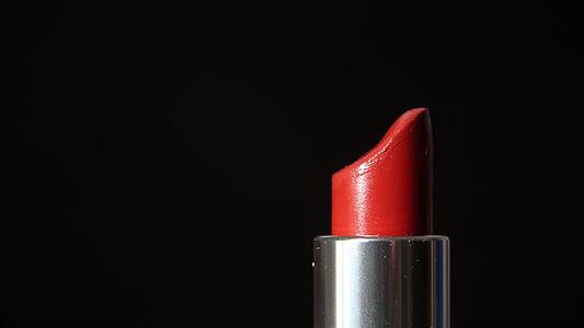llapis de llavis, cosmètica, conformen, cara, femení, vermell, femella