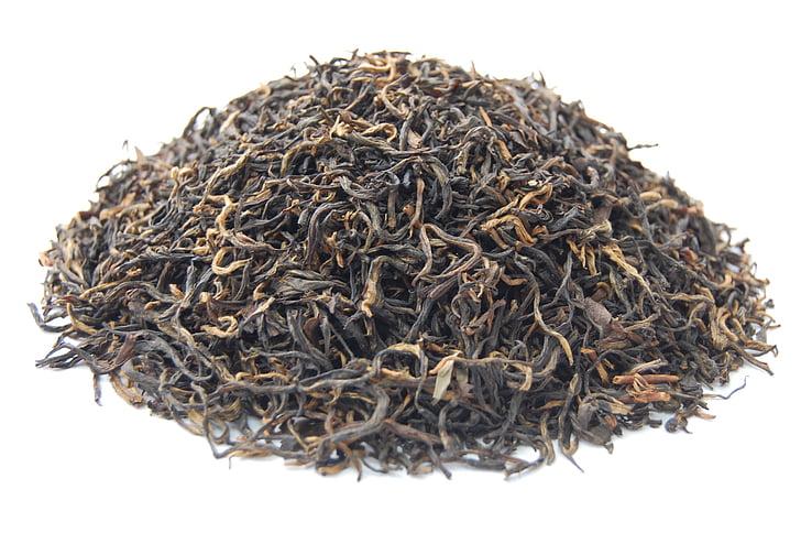 trà đen, trà, hương thơm, thực phẩm, khô, cận cảnh, hữu cơ