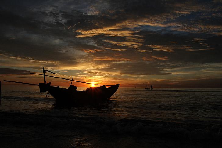 Hai hoa platja, Vietnam, platja, Alba, oceà, sol, natura