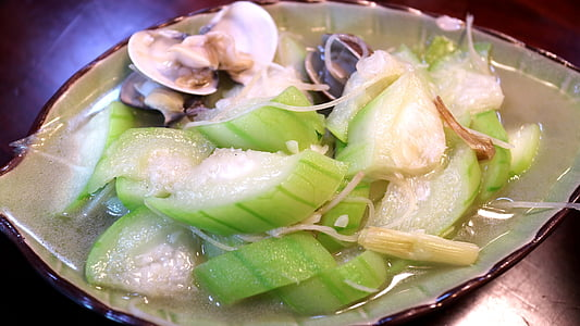 zucca di spugna, vongola 蠣, zucca di Halloween di mollusco 蠣 spugna, Gourmet, materiale, Cinese, scaldavivande