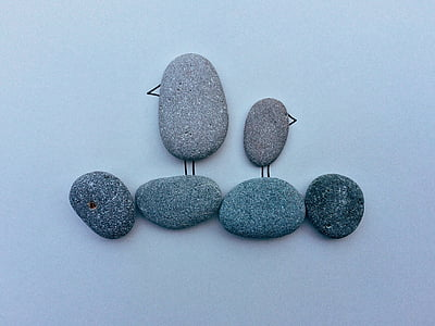 Linnut, Beach, Coast, Rock, Art