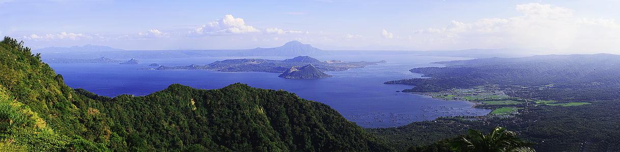 lake, landscape, nature, panorama, panoramic