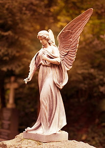 Ángel, Cementerio, estatua de, piedra, sepulcro, símbolo, escultura