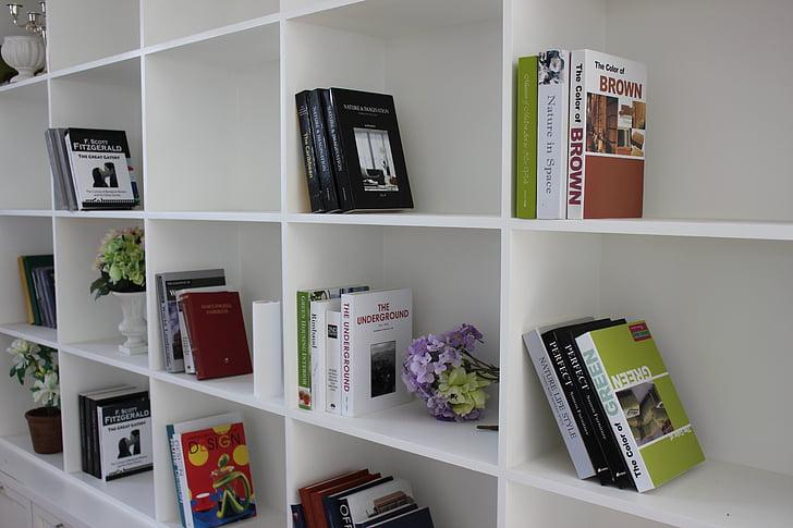 book, bookcase, reading