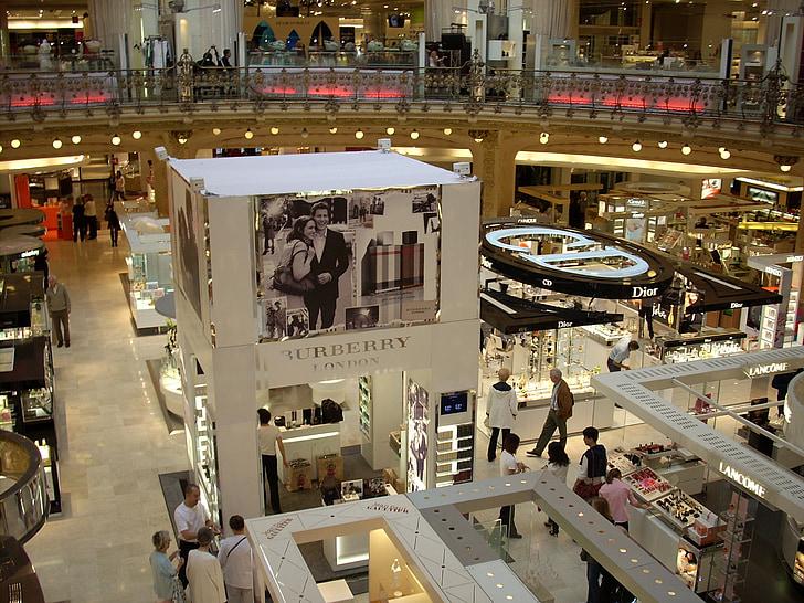magasin de lafayette, Xem chi tiết, Mua sắm, thương hiệu, mọi người, Paris, Pháp