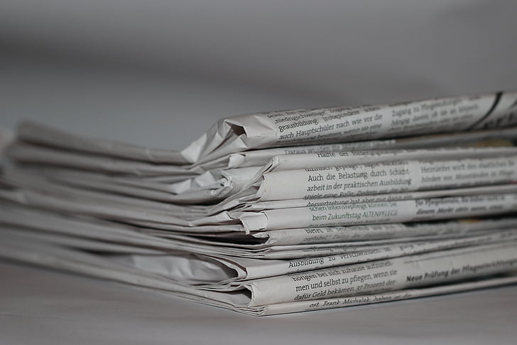 black-and-white, data, folded, information, journalism, monochrome, news