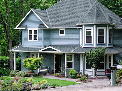 house, home, residence, building, architecture, property, gray