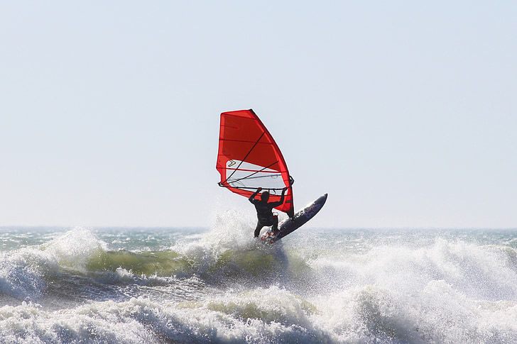 Purjelautailu, Vesiurheilu, Ocean, Sea, Beach