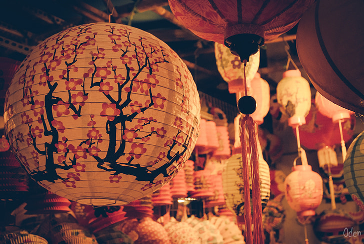mid autumn, festival, moon, holiday, vietnamese, vietnam, light