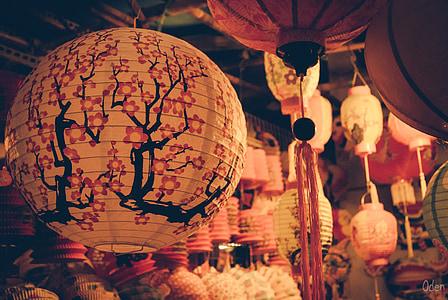 közepén őszi, Fesztivál, Hold, Holiday, vietnami, Vietnam, fény