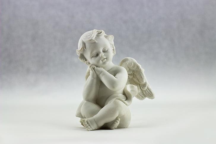 천사, 날개, 사랑, 하얀, 천사, 종교, 거룩한