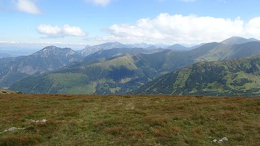 western tatras, mountains, landscape, nature, tourism, mountain, meadow