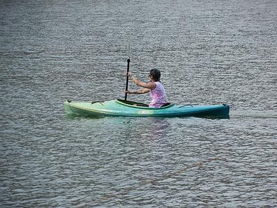 canoe, kayak, water, sport, kayaking, adventure, leisure