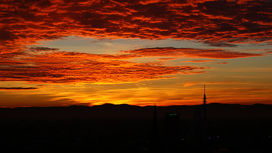 ηλιοβασίλεμα, μεταλαμπή, abendstimmung, βραδινό ουρανό, Ρομαντικές αποδράσεις, ουρανός