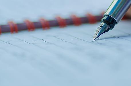 NIB, pluma, Parker, tinta, papel, de la escritura, fuente