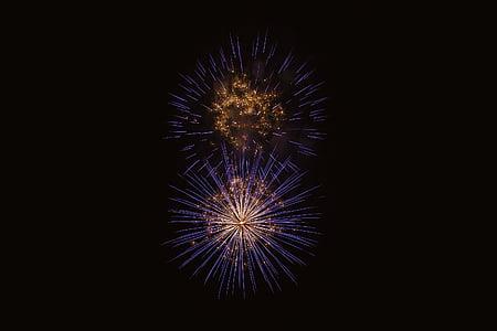 világos, színes, sötét, este, robbanás, Fesztivál, durrogtatás