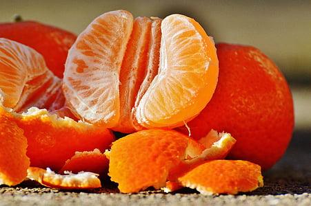 mandarynki, owoce, owoców cytrusowych, zdrowe, witaminy, jeść, pomarańczowy