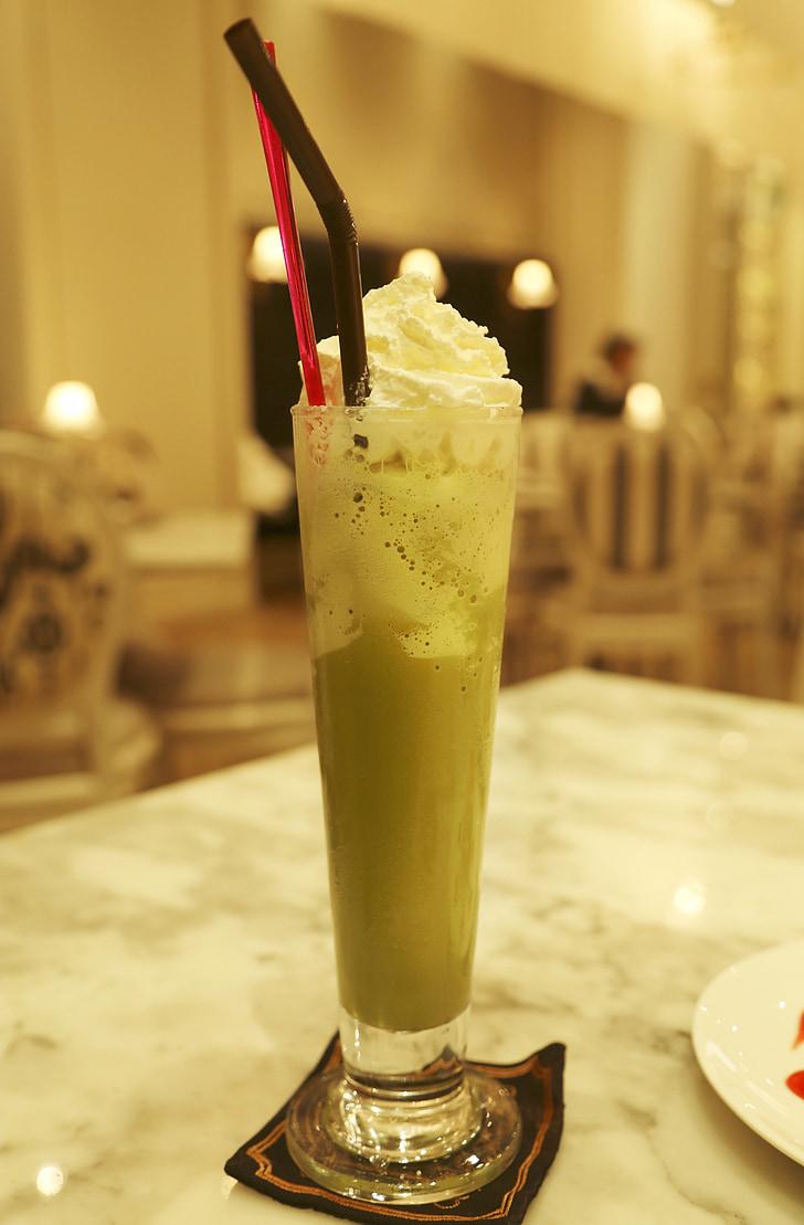 zelený čaj, čaj, Thajsko čaj, Thajská ľadový čaj, Zelená, nápoj, mlieko
