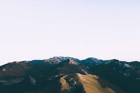 краєвид, гори, Природа, на відкритому повітрі, мальовничі, небо, Гора