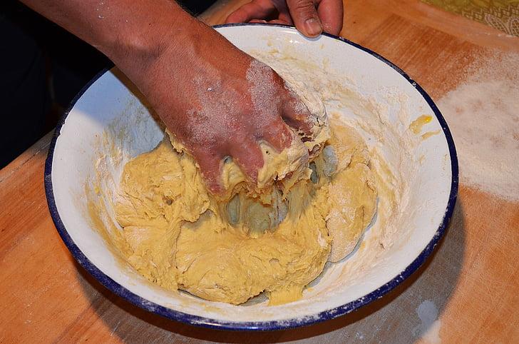 торта дрожди, месене на тесто, Купата, chałka, хляб, торта, торти