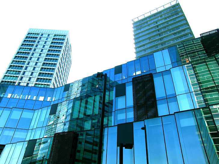 city, offices, hospitalet, architecture, building, skyscraper, sky