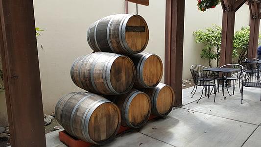tonneaux de vin, Winery, tonneau, alcool, vinification, vin-tonneau, chêne