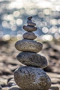 taşlar, çakıl taşları, yuvarlak, yığın, Zen taşlar, Zen, taş arka plan