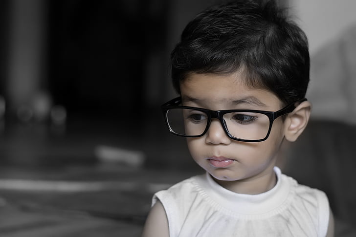 girl, child, glasses, eyewear