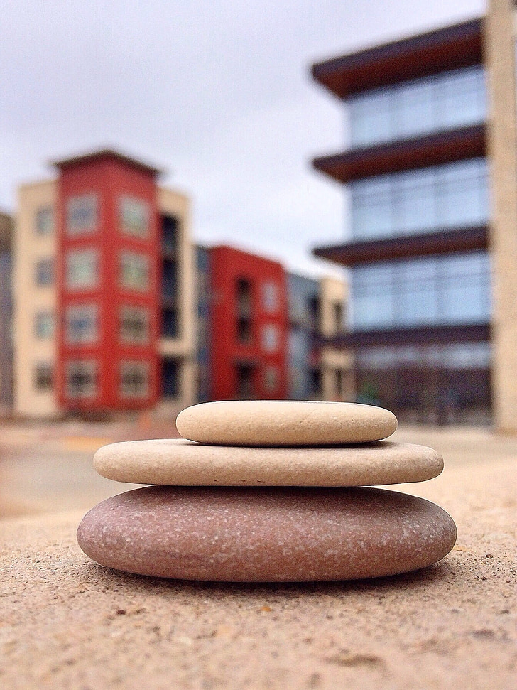 apilar pedres, equilibri, pedra, relaxació, Roca, pila, benestar