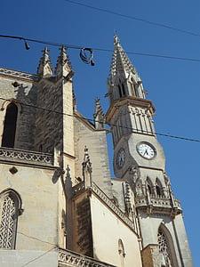 székesegyház, templom, kivetéséről, magas, építészet, épület, torony