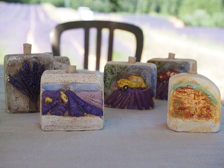 Lawendowe pole, kamień, pamięci, Sklep z pamiątkami, sprzedaż, Prowansja, olejek lawendowy