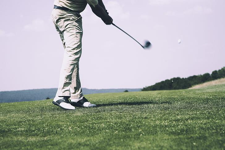 golf, tee, golf clubs, golf ball, green, golfers, golfer