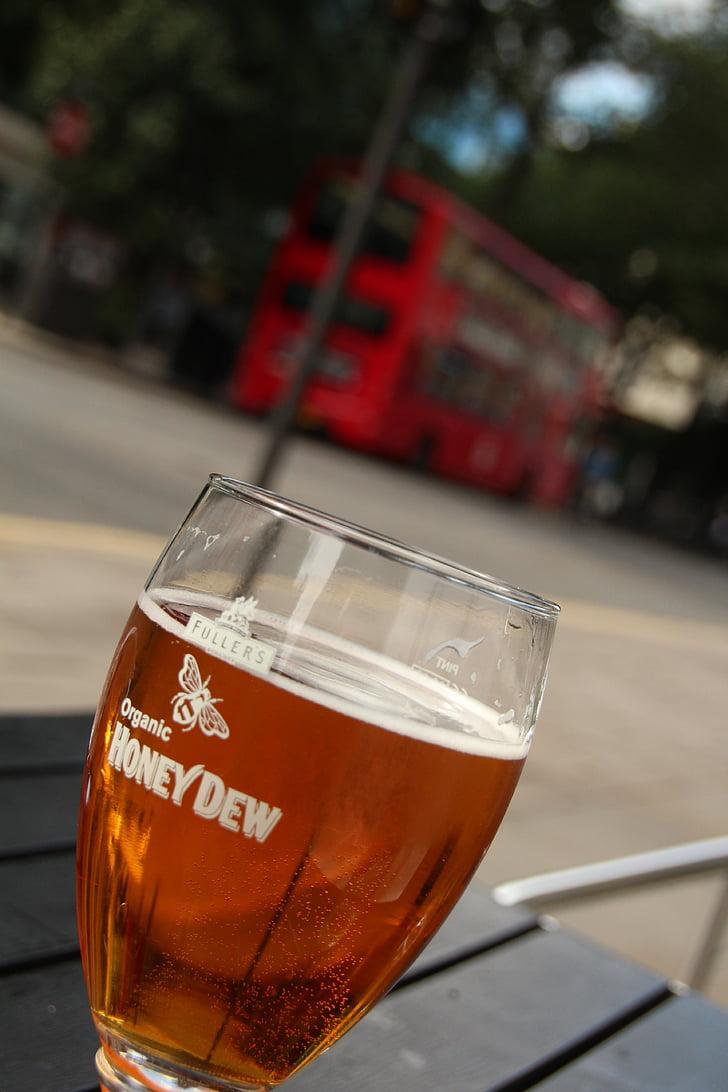 bier, honing dauw, drankje, relaxen