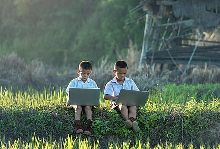 children, study of, laptop, vietnamese, thailand, enjoy, boys