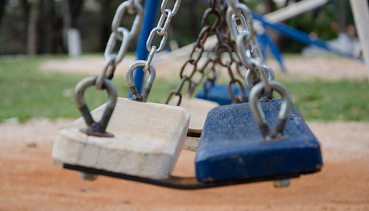 Balance, bleu, Parc