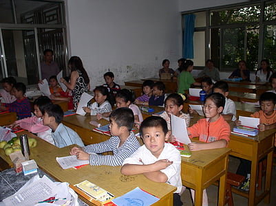 children, classroom, students, kids, studying, education, elementary