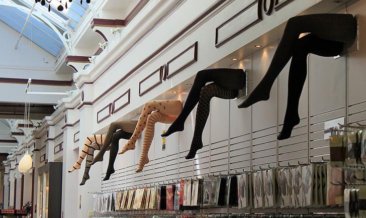 legs, stockings, lady legs, stocking, department store, advertising