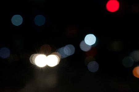 bokeh, fons, llums de la ciutat, resum, borrosa, Centre, carrer de la ciutat