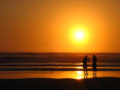 일몰, 바다, 휴일, 분위기, 로맨스, 저녁 하늘, 바다로