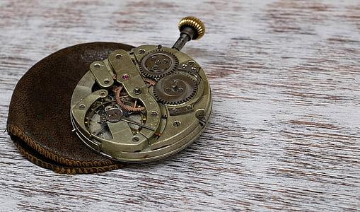 pulkstenis, kabatas pulksteni, kustība, horology, vecais, vecmodīgs, Nr cilvēki