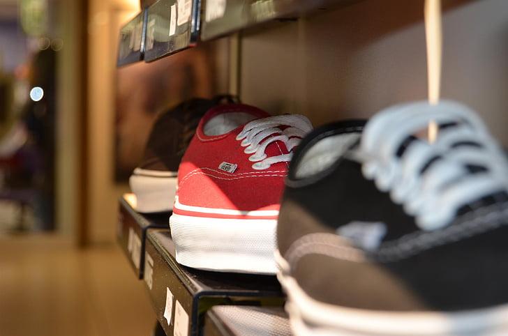 kurpes, mežģīnes, veikals, iepirkšanās, plaukts, izstāde, pērk