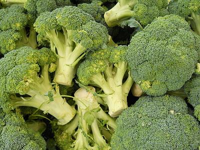 brokuły, zielony, jedzenie, zdrowe, jedzenie, wegetariańskie, warzyw
