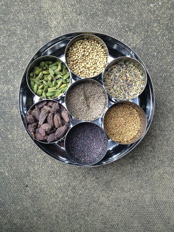 espècies, indi, aliments, pebre, picant, ingredient, curri