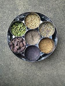 gia vị, Ấn Độ, thực phẩm, hạt tiêu, cay, thành phần, cà ri