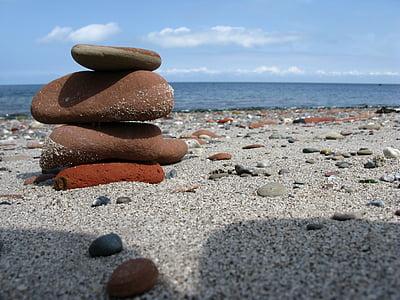 Nordsjön, Helgoland, stranden, stenar, Sand, havet, vatten