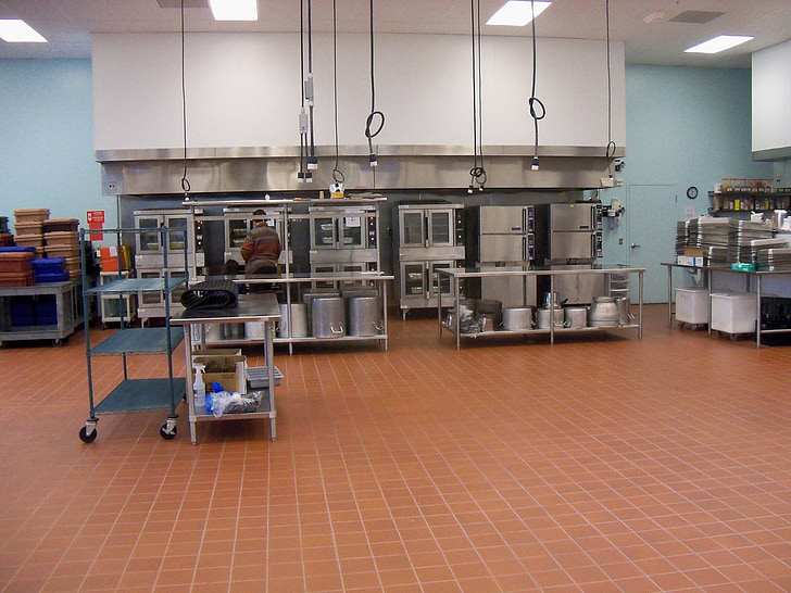 commercial kitchen, food processing, kitchen, restaurant kitchen, restaurant, culinary, cooking