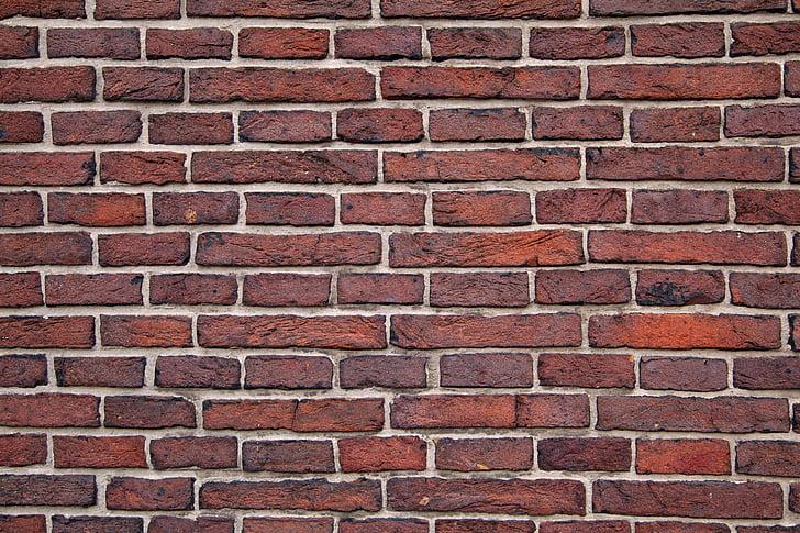 teló de fons, fons, bloc, Maó, edifici, ciment, maçoneria