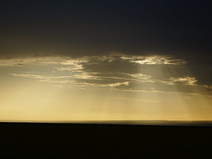 Jesus light, landskapet, natur, natur, scenics, Cloud - sky, solnedgang