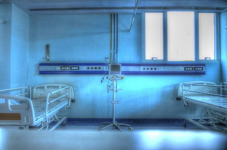 Kórház, orvosi, egészségügyi, egészségügyi ellátás, szoba, beteg szoba, beltéri